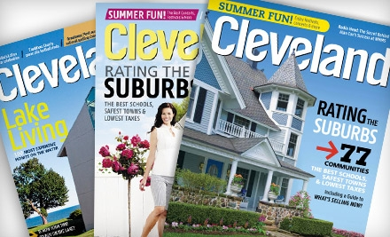 "$10 for June's ""Rating the Suburbs"" Issue and One-Year Subscription to ""Cleveland Magazine"" ($20.90 Value)"