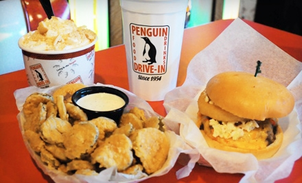 Charlotte: $9 for $18 Worth of American Diner Fare at The Penguin Drive-In