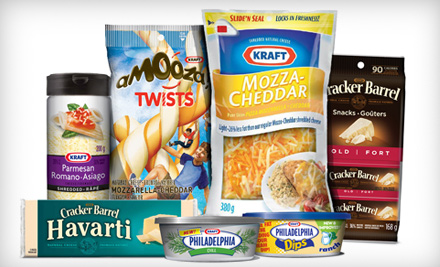 $20 for Cheese, Snacks, and Dips from Kraft Canada Inc. (Up to $49.83 Value)