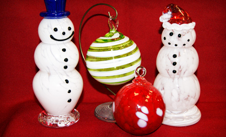 Blow-Your-Own-Glass-Ornament Activity (a $29.50 value)