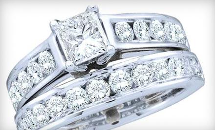 14-Carat White-Gold One-Carat Diamond Ring